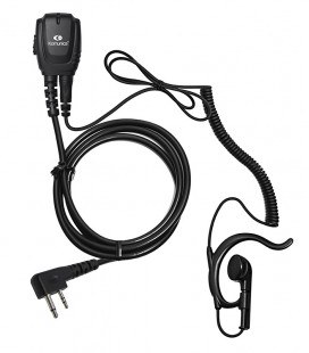 Microearphone coil cord + earhanger for ICOM