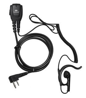 Micro-Auricular cable rizado con orejera ergonómica x ICOM (IL)