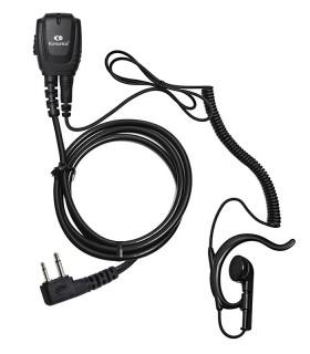 Microearphone coil cord + earhanger YAESU (SL )