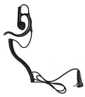 Auricular Cab. Rizado, 3,5mm Compat. YAESU/Stand.