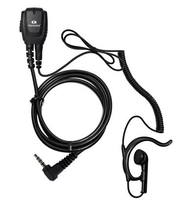 Micro-earphone coil cord + earhunger MOT. DP-2400R