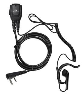 Micro-Auricular cable rizado y orejera ergonómica, compatible con Kenwood Nexedge