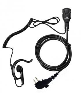 Micro-Auricular con orejera ergon. para Hytera PD-505