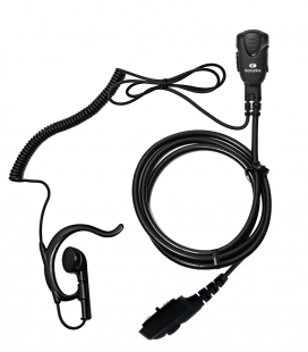 Micro-Auricular con orejera ergon. para Hytera PD-705, PD-785, etc