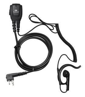 Micro-Auricular cable rizado con orejera ergonómica x MOTOROLA CP-040/DP1400