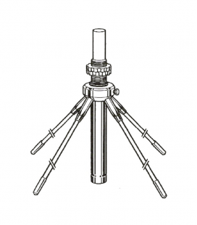 SOLARCON Antena fibra de vidrio 26-30 Mhz 5/8