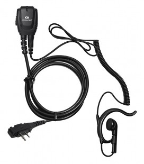 Micro-earphone coil cord + earhanger for ICF-11-W