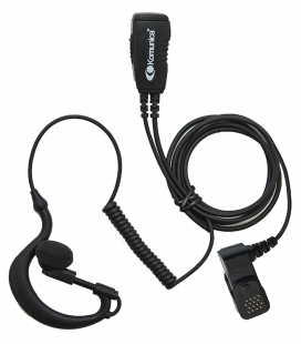 Micro-earphone Komunica compatible Airbus TPH700 with coiled cable and lapped PTT.