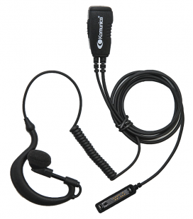 Micro-earphone Komunica compatible Airbus P2G with coiled cable and lapped PTT