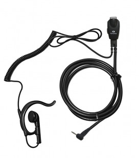 Micro-earphoner with VOX-PTT function and coiled cord for Motorola PMR, series T-6/T-8