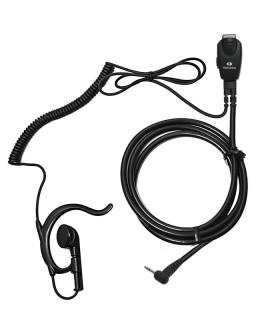 Micro-auricular con función VOX-PTT y cable rizado para Motorola PMR, series  T-6/T-8