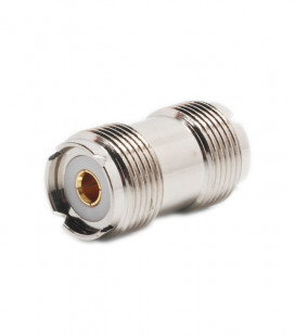 PL Adapter double female (SO-239), Gold Contact Pin