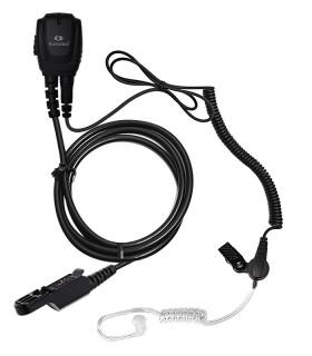Micro-Auricular cable rizado + tubo acústico para Motorola DP-2400E