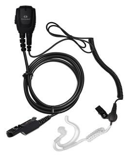 Micro-Auricular cable rizado + tubo acústico con orjera para Motorola DP-2400E