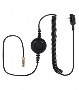 Cable compatible series NC-PRO, with round PTT and Icom connector for Icom ICF1000- 2 screws