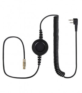Cable compatible with series NC-PRO, with round PTT and connector for Icom IL ( 2 Pin)