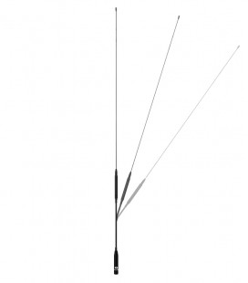 Dual-Band antenna VHF/UHF,  60 cm & flexible type, SMA connector