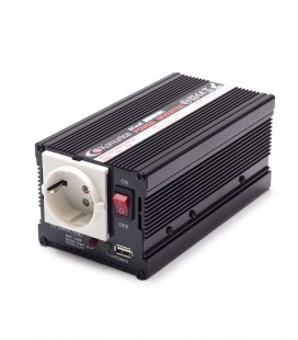 Inverter 300W, 24V/220V + USB connector