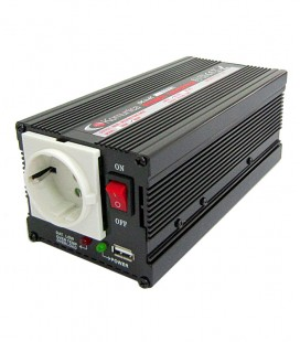 Inverter 400W, 24V/220V + USB connector