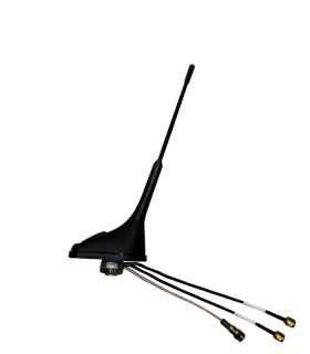 Komunica Mobile Antenna, Multiband:  TETRA (380:430MHz) GPS + LTE . Compact design