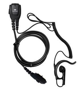 Micro-Auricular Komunica con cable rizado y orejera ergonómica, compatible series HYTERA PD-705