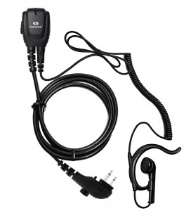 Micro-Earphone Komunica with coil cord and ergonomic ear-hanger for Hytera PD505