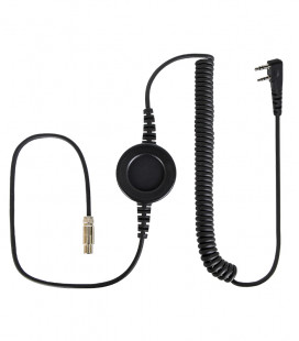 """Komunica cable compatible with series NC-PRO, round  """"In-Line"""" PTT and Icom connector para Icom ICF1000- 2 screws"""