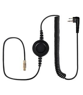 """Cable Komunica compatible con series NC-PRO, con PTT redondo """"In-Line"""" y conector para Motorola (2 Pin)"""