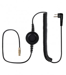 "Komunica cable compatible with series NC-PRO, round  ""In-Line"" PTT and Icom connector para Motorola 2 Pin"