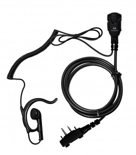 Micro-earphone with coil cord cable  x ICOM IC-11