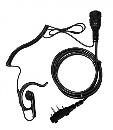 Micro-earphone x ICOM IC-F29. Coil cord.