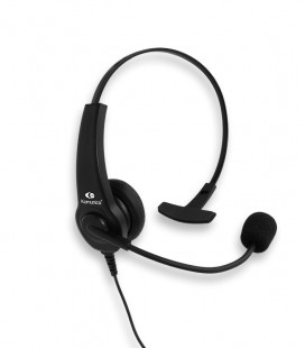 Monoaural Headset + lapel PTT compatible with Motorola 2P connexions