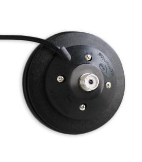 Base magnética Komunica, reforzada, diámetro 12cm, conector tipo PL + 5 mts RG-58
