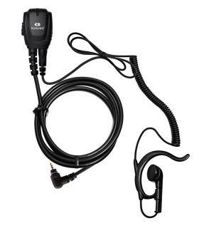 Micro-earphone Komunica coil cord + earhunger compatible Motorola SL4000
