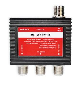 Triplexor Komunica 1.6-160Mhz (PL) / 350-550MHz (N) / 850-1300MHz (N)