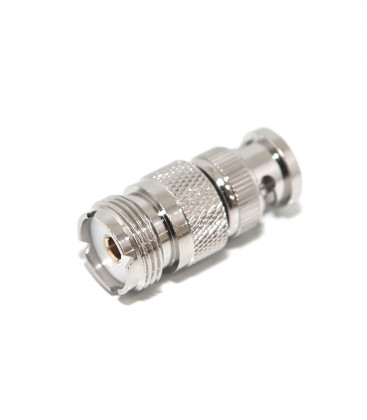 Adapter BNC male to UHF female - Gold contact Pin