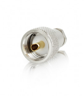 PL male ESPECIAL connector for coaxial cables 5-6mm (RG-58//H-155/Hyperflex-5, etc)