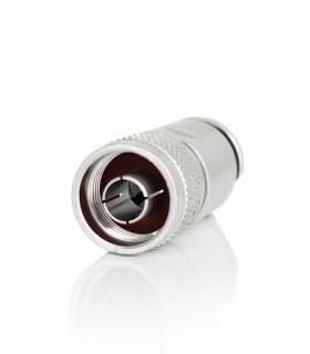 N macho plata alta calidad para RG-213/H-2000/AIRCOM-PLUS (Pin Dorado)