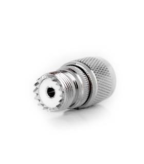 PL female adaptor (SO-239) to N male