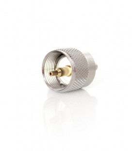 PL male for RG-58 GOLD pin - short & crimp type -