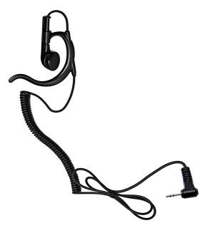 Auricular ergonómico cable rizado y conector compatible Series Motorola PMR:  T-62 / T-82, etc.