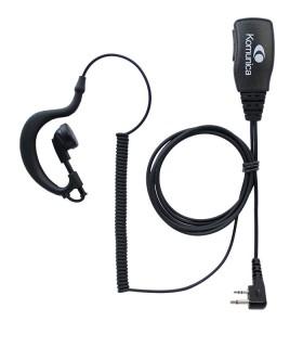 Micro-auricular básico Komunica, compatible con Icom (2 Pin)