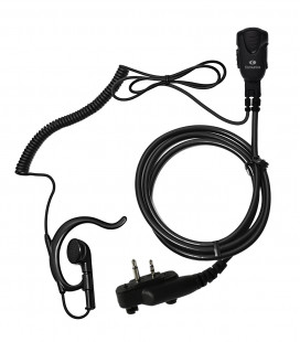 Micro-earphone with coil cord cable  x ICOM IC-F25 & IC-F27