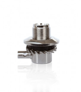 Threaded base with PL Female Connector for antennas and adjustable for RG 58 cable