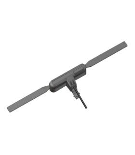 Antena móvil para TETRA - UHF (380-430MHz)  tipo cristal, adhesiva para interior de vehículo.