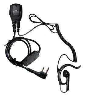 """Micro-Auricular con conector """"water-proof"""" para Icom IC-A25 Banda Aérea"""