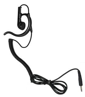 Auricular ergonómico cable rizado y conector recto, tipo 3,5mm