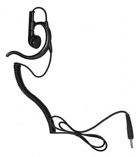 Earphone with coil cord and plug 3,5mm. Special size for speaker-microphones