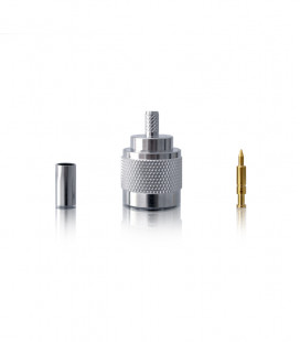 N male crimp connector for cables RG-58/142/RG-400/Aiborne-5 (SSB Electronics)