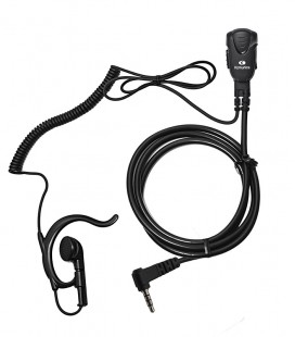 Micro-earphone x YAESU FT-50 / FT-60 (2 Pin). Coil cord.